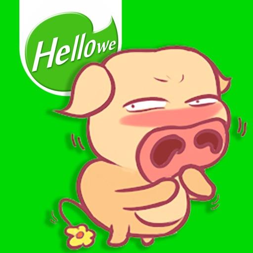 Hellowe Stickers: Big Nose Piggy