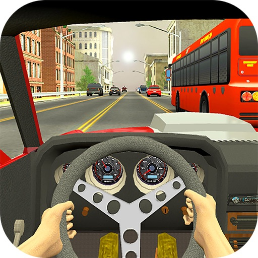 Asphalt Race in Car : A Dashboard view Drive 2017 icon