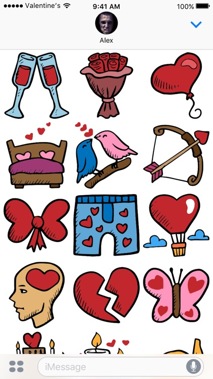 Valentine's Day stickers - Love Valentines 2017