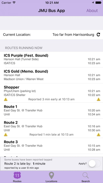 The JMU Bus App screenshot-0