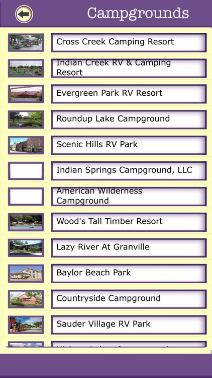Ohio Campgrounds & Hiking Trails,State Parks