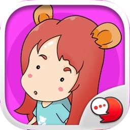 Mine the Little Bears Stickers Emoji By ChatStick