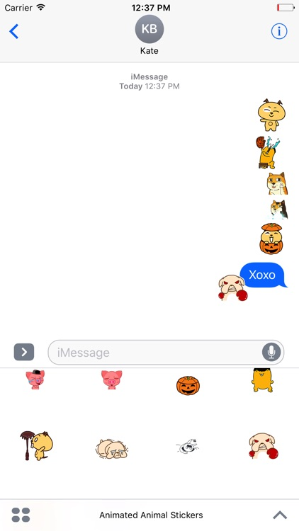 Animated Animal Stickers For iMessage screenshot-3