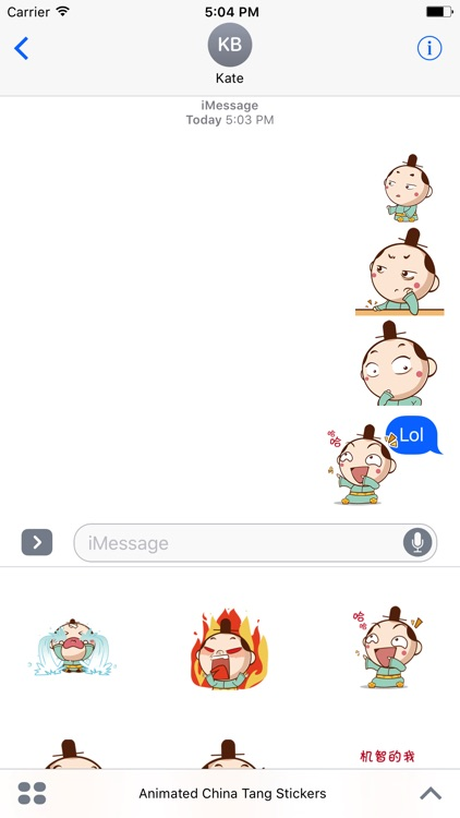 Animated China Tang Stickers For iMessage screenshot-4