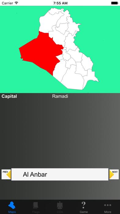 Iraq State Maps and Capitals screenshot one