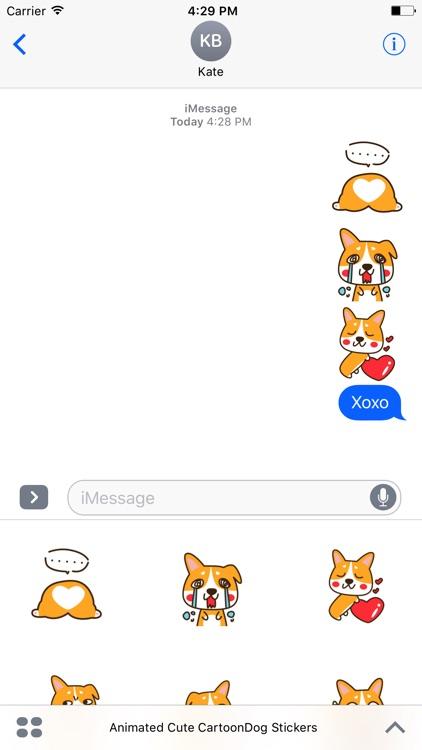 Cute Cartoon-Dog Stickers For iMessage screenshot-3