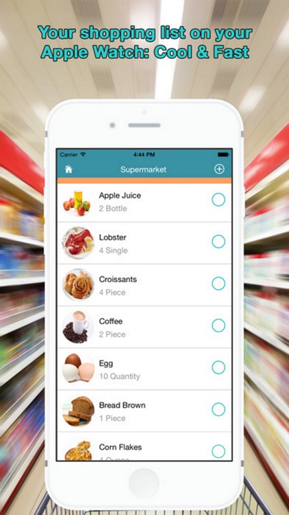 WatchList Pro. Grocery Shopping list on your Watch