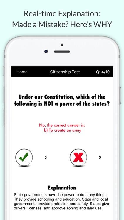 US Citizenship Test 2017 USCIS with Audio screenshot-0