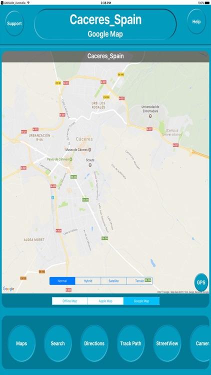 Cáceres Spain Offline City Maps Navigation