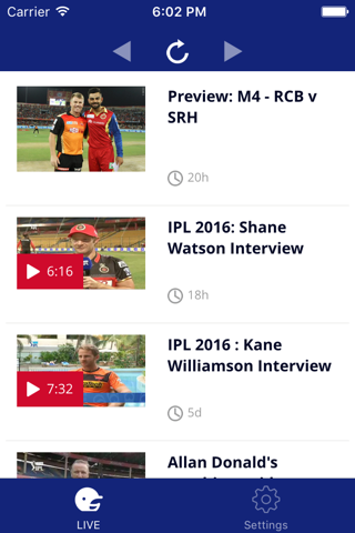 IPL Live Matches - náhled