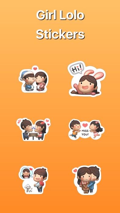 Mädchen mit Freund Lolo StickerScreenshot von 1