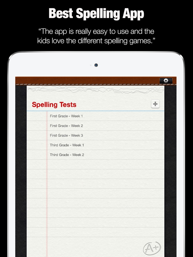 a spelling test on the app store