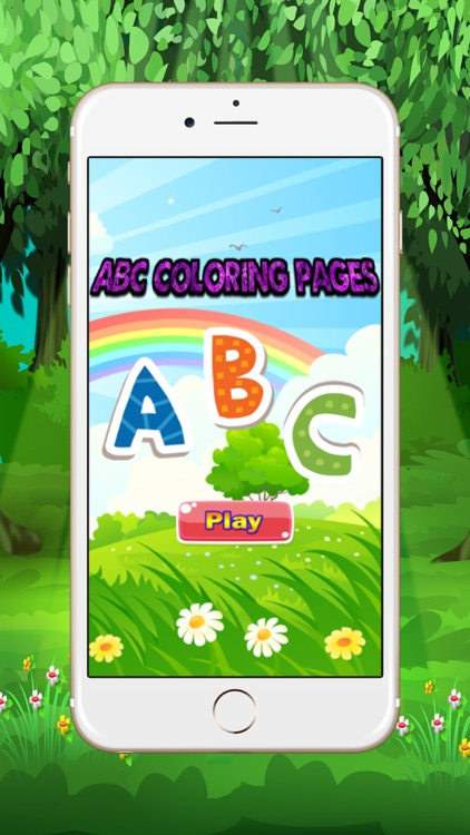 abc coloring pages for kid