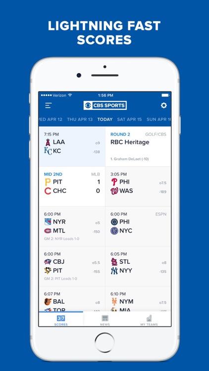 CBS Sports App - Scores, News, Stats & Live Video