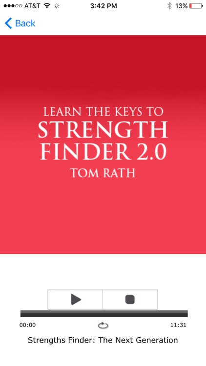 StrengthsFinder 2.0: Tom Rath Meditation Audiobook screenshot-3