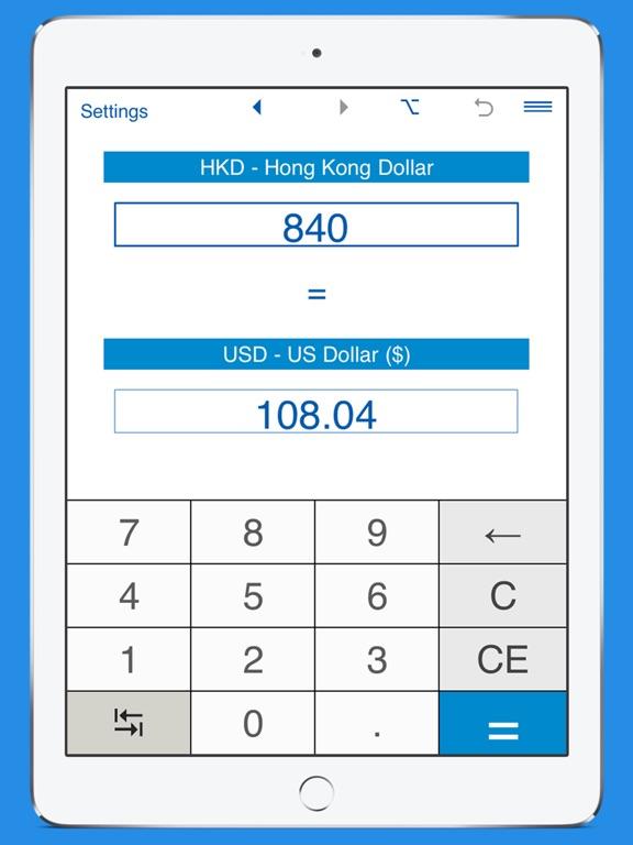 Screenshot 2 For Usd Hkd Currency Converter