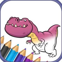 Dinosaur T Rex coloring book for kids