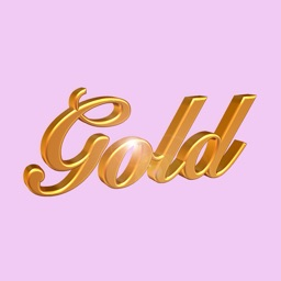 Gold Words Animated Stickers