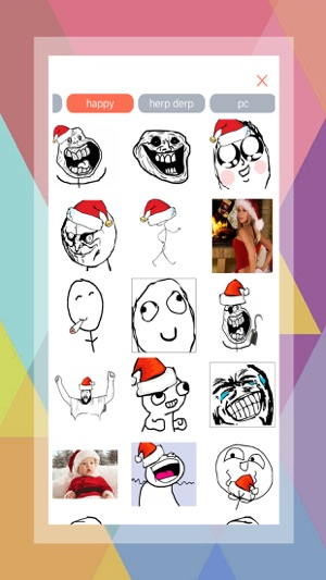 Xmas meme generator sticker creating app on the app store