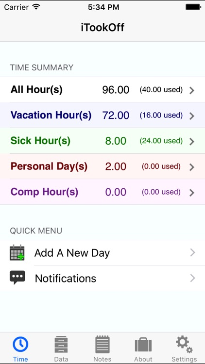 iTookOff Paid Leave Tracker