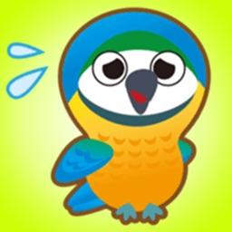 Cheerful Friendly Parrots - Cute Bird Stickers!