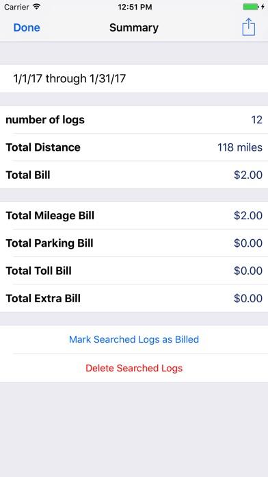 Milog - mileage log tracker screenshot three