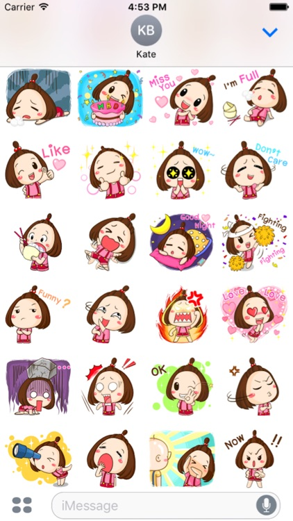 Cute Little Girl Sticker screenshot-3