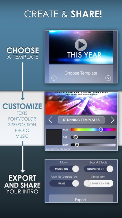 Intro Designer for iMovie and Youtube screenshot-1