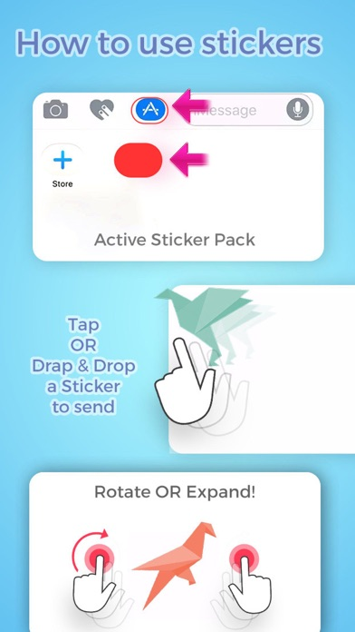 Origami Stickers screenshot three
