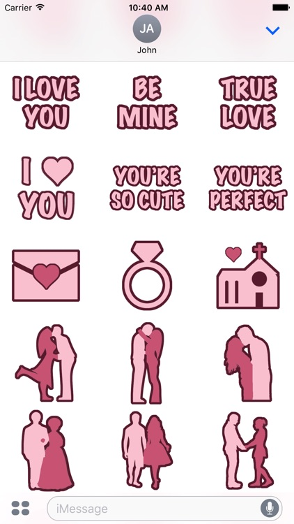 Love and Hearts Stickers