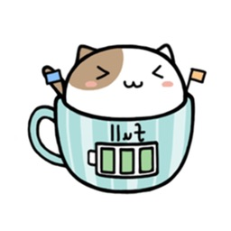 Pretty Cats In Cups Stickers Pack