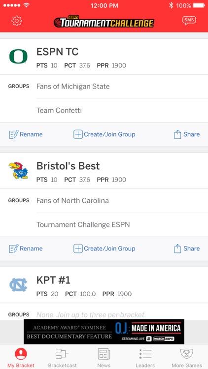 ESPN Tournament Challenge screenshot-3