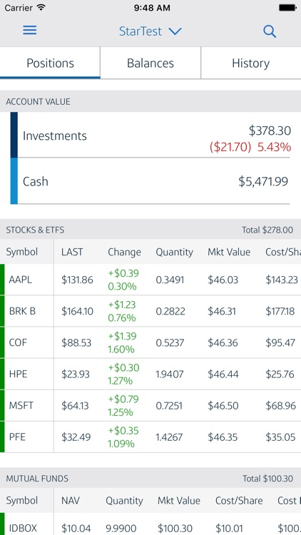 Capital One Investing Mobile screenshot-1