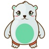 Haku the cute polar bear for iMessage Sticker