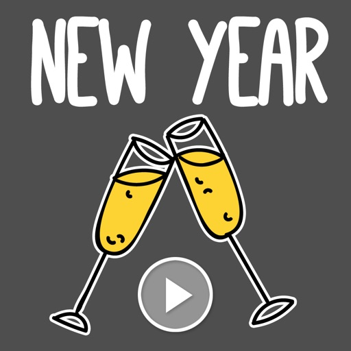 Animated New Years Stickers