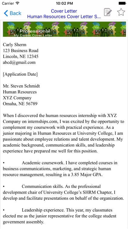 Cover Letter screenshot-3