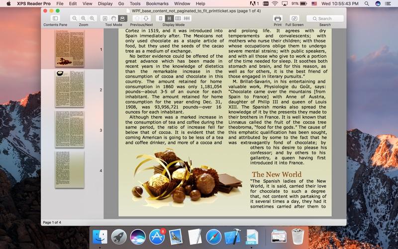 XPS-Reader Screenshot