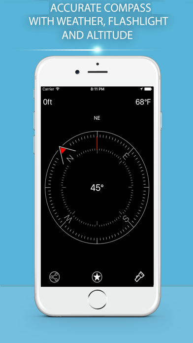 Compass Pro - True North Orienteering and Heading screenshot 1