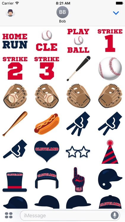 Cleveland Baseball Stickers & Emojis screenshot-3