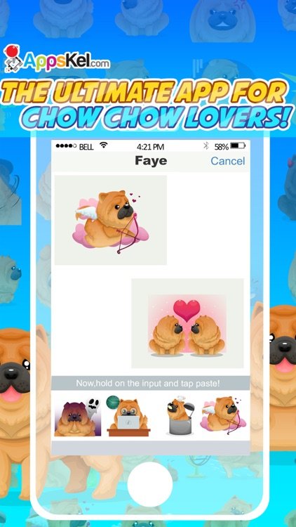 Chowmoji: Chow-Chow Dog Emoji & Stickers App screenshot-0