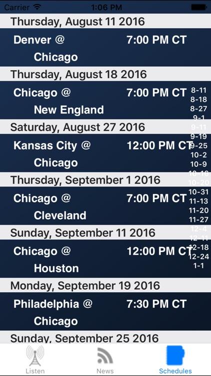Chicago Football - Radio, Scores & Schedule screenshot-3