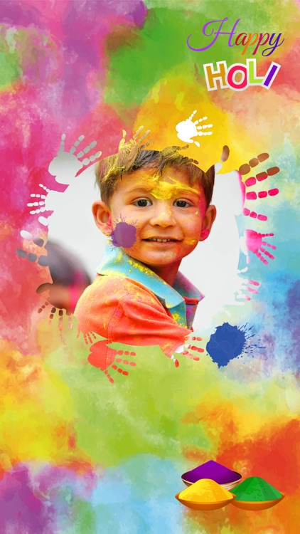 Holi Photo Frame 2017 - Colorful Picture Frames screenshot-3