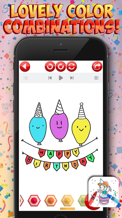 Birthday Coloring Games screenshot-3