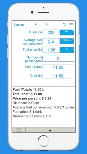 trip fuel cost calculator on the app store