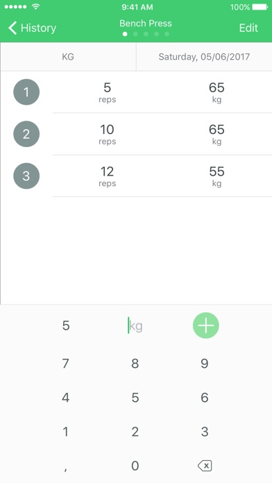 Fitrack Workout Tracker, Gym Log, Exercise Journal Screenshot