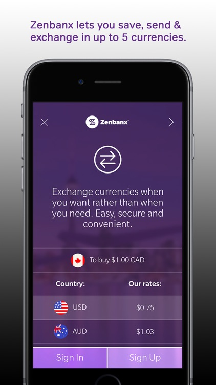 Zenbanx Multi-Currency Account screenshot-1
