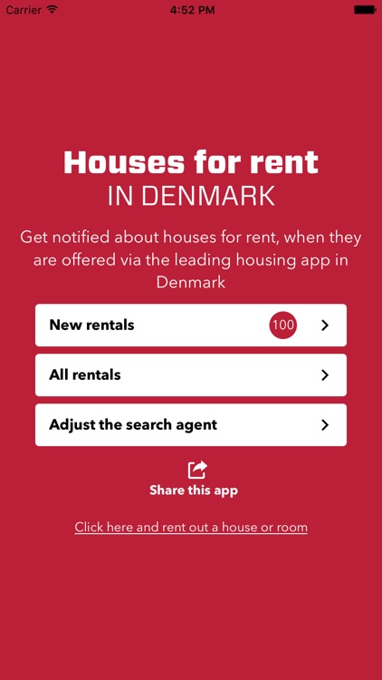 Houses for rent in Denmark