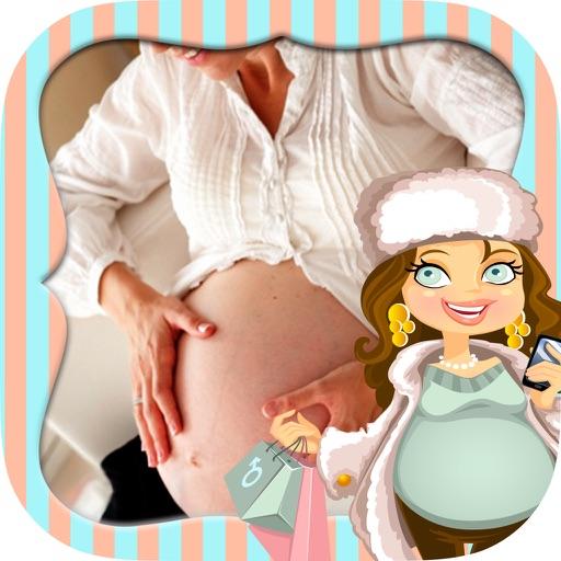 Schwangerschaft Bilderrahmen  Babyparty Einladung