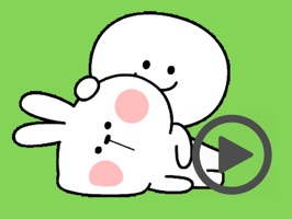 Happy Rabbit and Friend Animated
