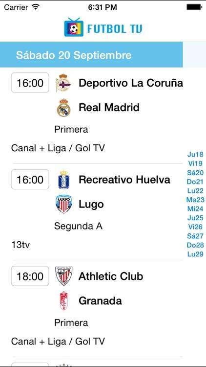 Futbol Calendario.Futbol Tv Calendario By Juan Carlos Munera Vicente